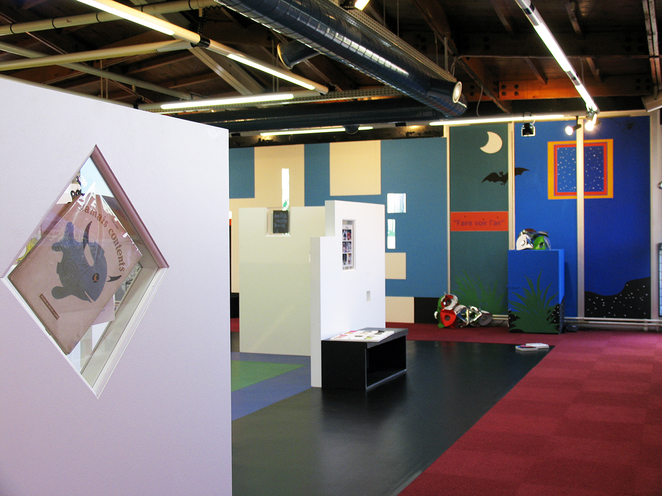 13 octobre 2007 - inauguration de l'exposition ABC D'AIR une retrospective de Bruno Munari à la bibliothèque de Pantin dans le cadre du salon du livre de Montreuil