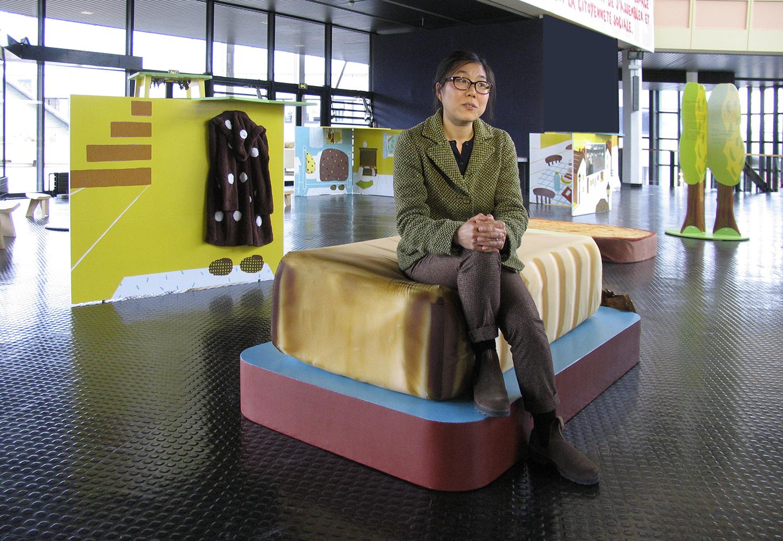 """14 avril 2015 - Présentation de l'exposition du livre """"Ce matin""""  de Junko Nakamura, éd. Memo, scénographie Nabil Boutros, à la maison des syndicats de Créteil 94000 Val de Marne"""