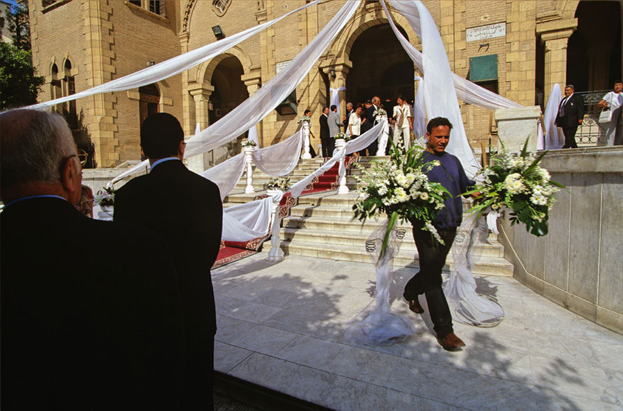 Wedding, St Marc church. Heliopolis, Cairo - May 2003