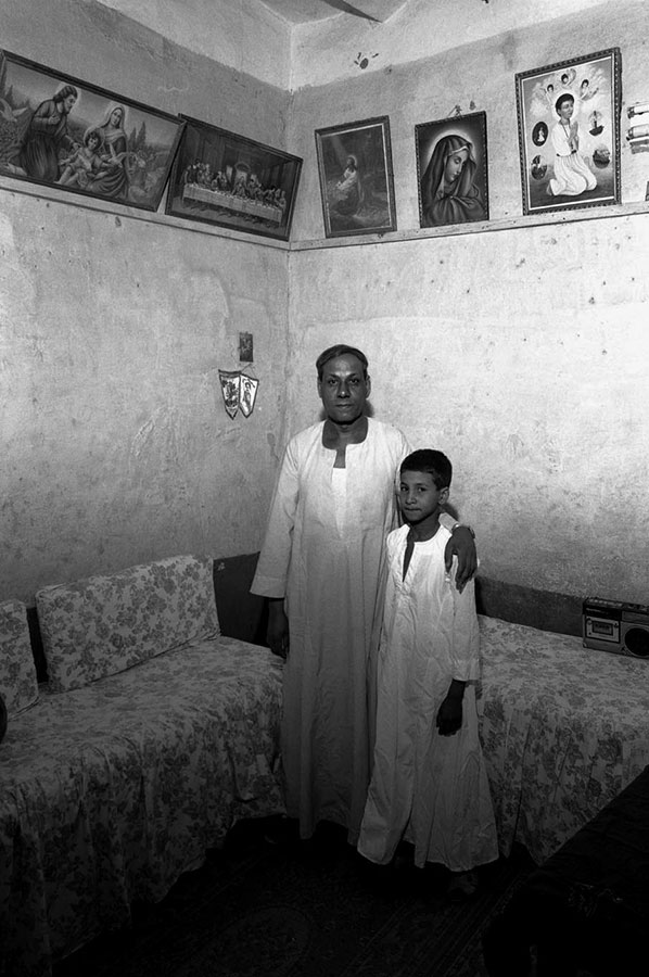 Farmer and son. Qeft village, near Luxor - Apr 1990